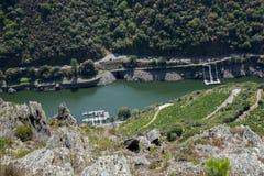 Vooruitzicht over Sil-rivier stock fotografie
