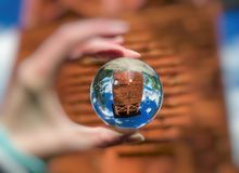 Vooruitzicht Spicak in lensball, Slowakije royalty-vrije stock fotografie