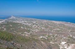 Vooruitzicht van eiland Santorini Stock Afbeeldingen