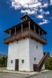 Vooruitzicht Veza in dorp Velke Borove, Slowakije royalty-vrije stock afbeelding