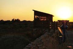 Vooruitzicht voor trekvogels in het moerasland van Cabo DE Gata royalty-vrije stock foto