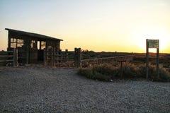 Vooruitzicht voor trekvogels in het moerasland van Cabo DE Gata stock afbeelding
