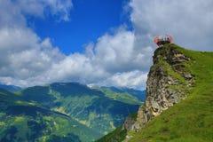 Vooruitzichten, de Manier van Stubnerkogel, Slechte Gastein, Kabelbaan, Oostenrijk Royalty-vrije Stock Fotografie
