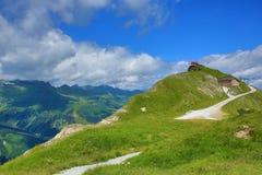 Vooruitzichten, de Manier van Stubnerkogel, Slechte Gastein, Kabelbaan, Oostenrijk Stock Foto