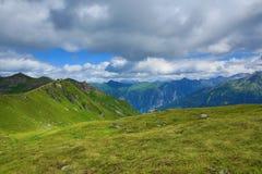 Vooruitzichten, de Manier van Stubnerkogel, Slechte Gastein, Kabelbaan, Oostenrijk Stock Foto's