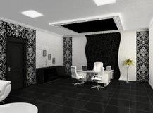 Vooruitzichten van creatief bureau met werkplaats Stock Illustratie
