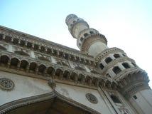 Voorvoorgevel van Charminar, een mooi architecturaal meesterwerk van Hyderabad, India Royalty-vrije Stock Fotografie