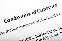 Voorwaarden van Contract Brief royalty-vrije stock fotografie