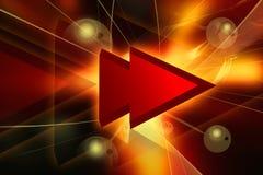 Voorwaarts symbool Stock Afbeelding