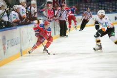 Voorwaartse Zhafyarov Damir (18) Stock Fotografie