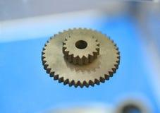 Voorwerp dat op close-up van de metaal 3d printer wordt gedrukt Royalty-vrije Stock Foto