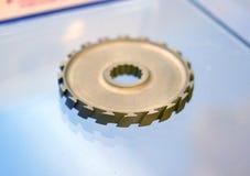 Voorwerp dat op close-up van de metaal 3d printer wordt gedrukt Royalty-vrije Stock Foto's