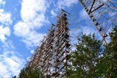 Voorwerp Duga, Chornobyl-streek Stock Afbeelding