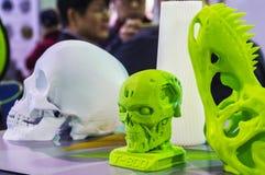 Voorwerp op een 3D printer wordt gedrukt die Stock Foto's