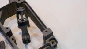 Voorwerp op metaal 3d printer die wordt gedrukt stock footage