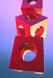 Voorwerp van houten kubussen Stock Foto's