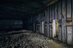 Voorwerp 221, verlaten sovjetbunker, reservecommandopost van de Vloot van de Zwarte Zee royalty-vrije stock foto's
