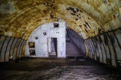 Voorwerp 221, verlaten sovjetbunker, vroegere reservecommandopost van de Vloot van de Zwarte Zee royalty-vrije stock foto