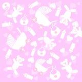 Voorwerpen de achtergrond van de baby Royalty-vrije Stock Fotografie