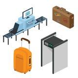 Voorwerpen in een luchthaven Een deel van het binnenland Royalty-vrije Stock Afbeelding
