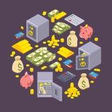 Voorwerpen met betrekking tot financiën stock illustratie