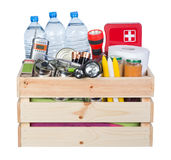 Voorwerpen nuttig in noodsituatiesituaties zoals natuurrampen royalty-vrije stock afbeelding