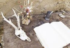 Voorwerpen van hekserij Stock Foto's
