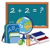 Voorwerpen voor onderwijs in school. Royalty-vrije Stock Afbeelding