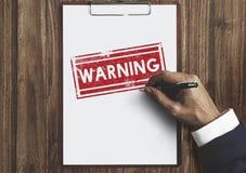 Voorzichtigheid in afwachting van Verworpen Geheim Waarschuwingsconcept dat wordt ontkend royalty-vrije stock foto's