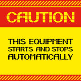 voorzichtigheid E Stock Foto's