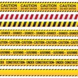 Voorzichtigheid en gevaarslint royalty-vrije illustratie