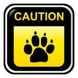 Voorzichtigheid - hond vector illustratie