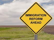 Voorzichtigheid - Immigratiehervorming vooruit Stock Foto's