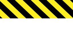 Voorzichtigheid of waarschuwing in zwarte en gele strepen met wit deel vector illustratie