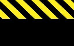Voorzichtigheid of waarschuwing in zwarte en gele strepen met zwart deel stock illustratie