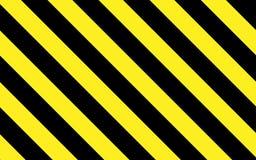 Voorzichtigheid of waarschuwing in zwarte en gele strepen stock illustratie