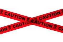 Voorzichtigheidsband stock afbeelding