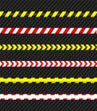 Voorzichtigheidsband De lijn van de politie en gevaarsband Vector illustratie royalty-vrije illustratie