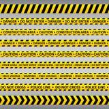 Voorzichtigheidsbanden Stock Fotografie