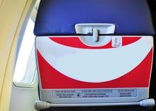 Voorzichtigheidsetiket op het vliegtuig Stock Fotografie
