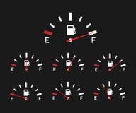 Voorzie indicator van brandstof Illustratie op Zwarte achtergrond voor ontwerp, Lege Energie Vector illustratie vector illustratie