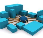 Voorzien van een netwerk 1 vector illustratie