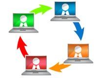 Voorzien van een netwerk royalty-vrije illustratie