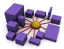 Voorzien van een netwerk 3 stock illustratie