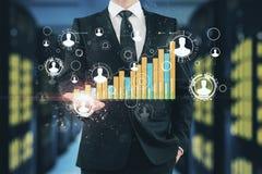 Voorzien van een netwerk en financi?nconcept stock afbeeldingen