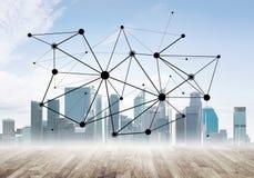 Voorzien van een netwerk en sociale mededeling als middelen voor efficiënte bedrijfsstrategie royalty-vrije stock foto