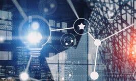 Voorzien van een netwerk en sociale verbinding als concept Stock Afbeelding