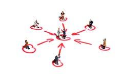 Voorzien van een netwerk en steun in zaken Stock Foto's