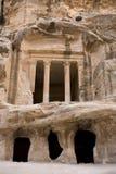 Voorzijde bij Weinig Petra Jordanië royalty-vrije stock afbeelding