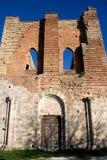 Voorzijde van de Abdij van San Galgano Stock Afbeeldingen